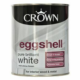Crown Eggshell White Paint 750ml