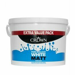 Crown Paint Matt Emulsion 7.5L Pure Brilliant White