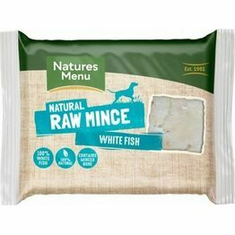 Natures Menu Raw Just White Fish Mince 400g