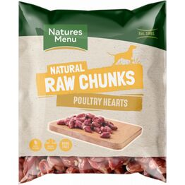 Natures Menu Raw Chews Poultry Heart Chunks