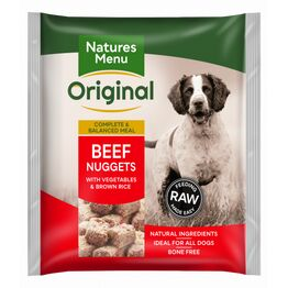 Natures Menu Raw Complete Beef Nuggets