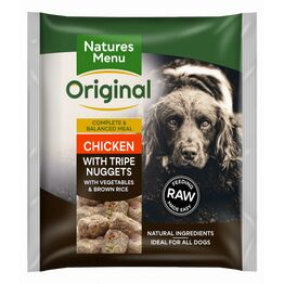 Natures Menu Raw Complete Chicken & Tripe Nuggets