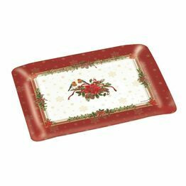 Christmas Red Robin Scatter Tray 22x16cm