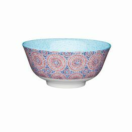 KitchenCraft Blue and Red Mosaic Ceramic Bowl