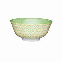 KitchenCraft Green Geometric Style Ceramic Bowl