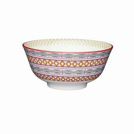 KitchenCraft Moroccan Style Bright Geometric Ceramic Bowl