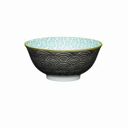 KitchenCraft Grey Arched Pattern Ceramic Bowl