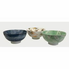 Fusion Ceramic Bowls with Gold