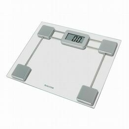 Salter Toughened Glass Compact Digital Bathroom Scales - Silver