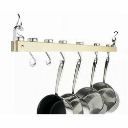 Masterclass Ceiling Mounted Single Wooden Pot Rack