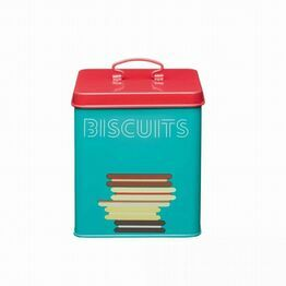 KitchenCraft Printed Steel Biscuit Tin
