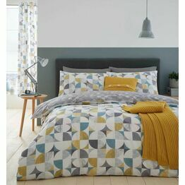 Catherine Lansfield Duvet Cover Set Retro Circles