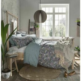 Fat Face Winter Ferns Grey Duvet Cover Set