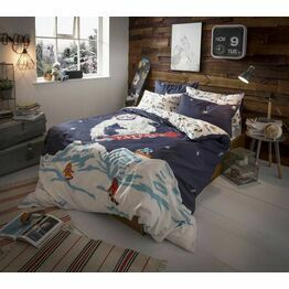 Fat Face Duvet Cover Set Yeti Navy