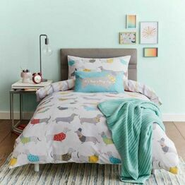 Catherine Lansfield Duvet Cover Set Silly Sausage Dog