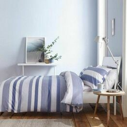 Catherine Lansfield Newquay Stripe Blue Duvet Cover Set