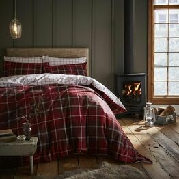 Catherine Lansfield Duvet Cover Set Brushed Tartan Check