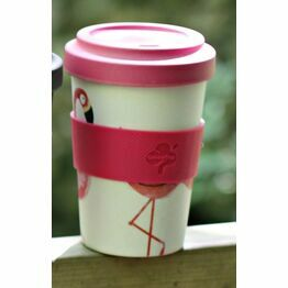 Bamboo Fibre Travel Mug Flamingo Buy one get one FREE