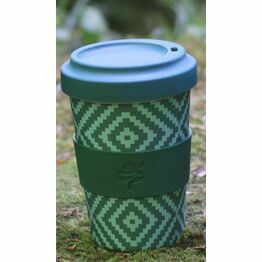 Bamboo Fibre Travel Mug Green Pattern Buy one get one FREE