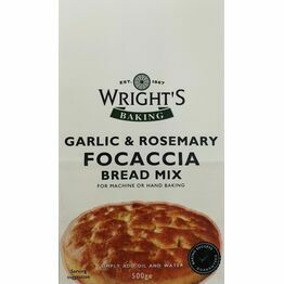Wrights Garlic & Rosemary Focaccia Bread Mix 500g