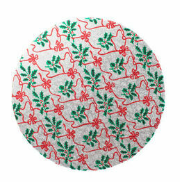 Christmas Design Cake Board Round