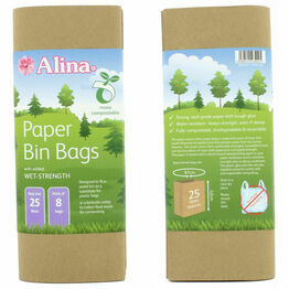 Alina Paper Bin Bags Compostable 25ltr