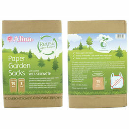 Alina Paper Garden Sacks Compostable 75ltr
