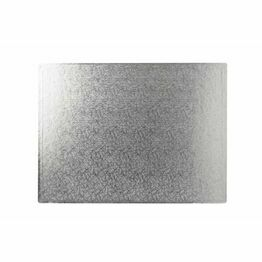 Cake Board 3mm Rectangular Silver12x16in