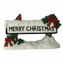 Christmas Cake Pick - Street Sign Merry Christmas F344