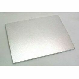 Cake Boards 12mm Drum Oblong Silver 18x14inch