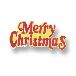 Merry Christmas Red & Gold Paper Motto PM16