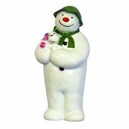 Christmas Figures The Snowman holding Snowdog Topper F369