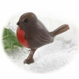 Christmas Robin on Peg 3cm F081