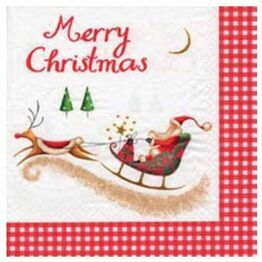 Christmas Napkins Santa and Sleigh pack of 20