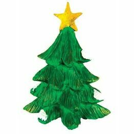 Green Resin Fir Tree with Gold Star F259X
