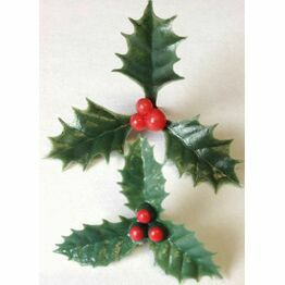 Christmas Plastic Triple Holly AX531