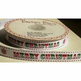 Ribbon Vintage Merry Christmas 16mm BTB047