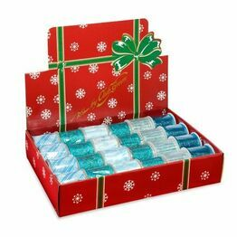 Club Green Christmas Silver/Turquoise assorted ribbon CGK352
