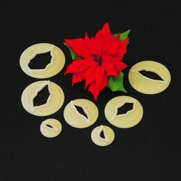 Christmas Poinsettia Cutter Set of 7