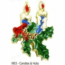 Christmas Pick Candles & Holly M53