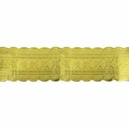 Christmas Cake Frill Gold 6.5cm high