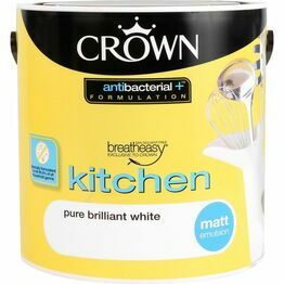 Crown Breatheasy Kitchen Paint Pure Brilliant White 2.5litre