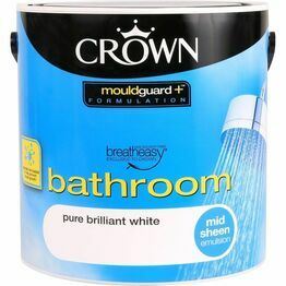 Crown Breatheasy Bathroom Paint Pure Brilliant White 2.5litre