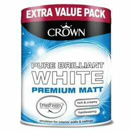 Crown Pure Brilliant White Premium Matt Paint 3ltr
