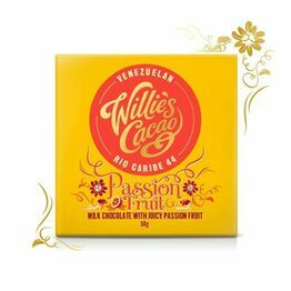 Willies Cacao Passion Fruit Milk Chocolate Bar 50g