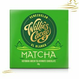 Willies Cacao Matcha Green Tea White Chocolate Bar 50g