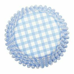 Cupcake Baking Case Blue Gingham