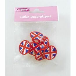Cake Top Union Jack Rings (pk6) 2012