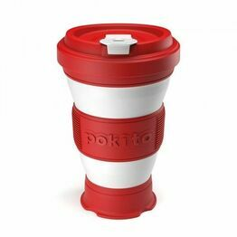 Pokito Pop Up Travel Cup Cherry Red