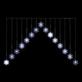 Snowflake 'V' Curtain 15 Warm White LED's CL05886